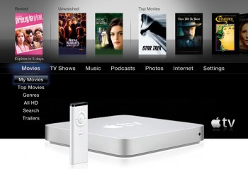 Apple TV 3.0, med Apple TV 160GB. Foto: Apple Inc.