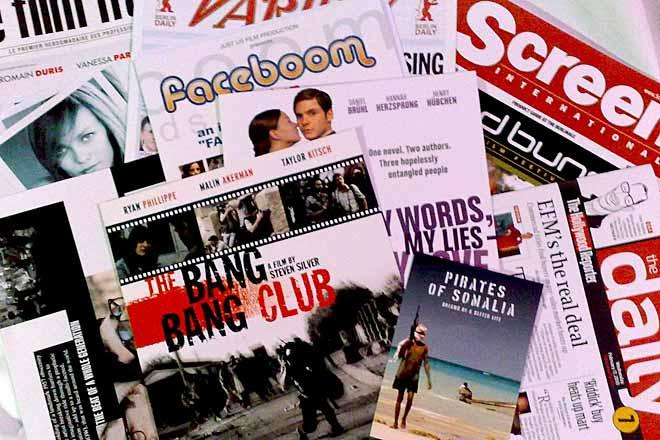 Filmblad och tidningar från EFM 2010. Foto: Film.nu