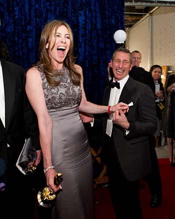Kathryn Bigelow med Oscar. Foto: A.M.P.A.S.
