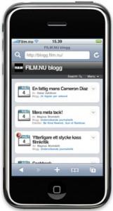 Filmblogg för Iphone